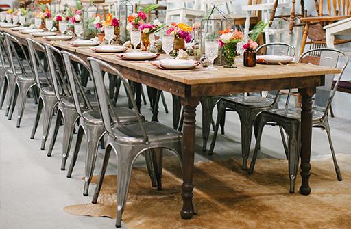 Rent Vintage Furniture Miami Farmhouse Table Chairs Rentals