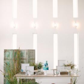 KLP - Hampton Farmhouse Table, Dixon Room Divider - The Temple House - Miami Beach FL