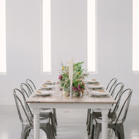 KLP - Hampton Farmhouse Table, Remington Chairs - The Temple House - Miami Beach FL