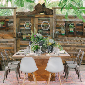 Katie Lopez Photography - Holden Dining Table, Remington Chairs, Eames Chairs, Odette Rug - Isaac Farms - Homestead FL