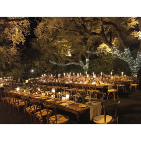 Wedding - Farmhouse Table, Tuscan Chairs - Villa Woodbine - Coconut Grove FL (1)