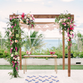 Wedding - Katie Lopez Photography - Arbor, Ezra Sweetheart Table - The Edition Hotel - Miami Beach FL
