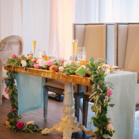 Wedding - Katie Lopez Photography - Sinclair Sweetheart Table - The Bath Club - Miami Beach FL
