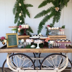 Wedding - The Carreta, Cake Stands - Boaters Grill - Key Biscayne FL